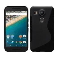 Housse etui coque pochette silicone gel fine pour LG Nexus 5X + film ecran - NOIR