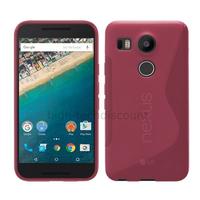 Housse etui coque pochette silicone gel fine pour LG Nexus 5X + film ecran - ROSE