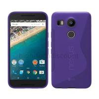 Housse etui coque pochette silicone gel fine pour LG Nexus 5X + film ecran - MAUVE