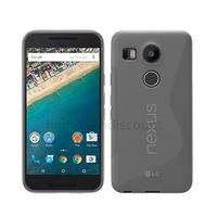 Housse etui coque pochette silicone gel fine pour LG Nexus 5X + film ecran - TRANSPARENT