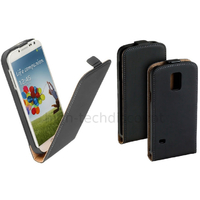Housse etui coque pochette PU cuir fine pour Samsung i9600 Galaxy S5 + film ecran - NOIR