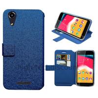 Housse etui coque pochette portefeuille pour Wiko Rainbow Jam 4G + film ecran - BLEU