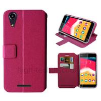 Housse etui coque pochette portefeuille pour Wiko Rainbow Jam 4G + film ecran - ROSE