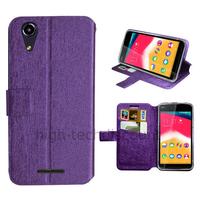 Housse etui coque pochette portefeuille pour Wiko Rainbow Jam 4G + film ecran - MAUVE