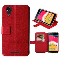 Housse etui coque pochette portefeuille pour Wiko Rainbow Jam 4G + film ecran - ROUGE