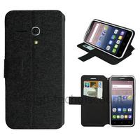 Housse etui coque pochette portefeuille pour Alcatel One Touch Pop 3 (5.5) + film ecran - NOIR