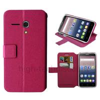 Housse etui coque pochette portefeuille pour Alcatel One Touch Pop 3 (5.5) + film ecran - ROSE
