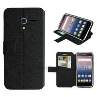 Housse etui coque pochette portefeuille pour Alcatel One Touch Pop 3 (5.0) + film ecran - NOIR