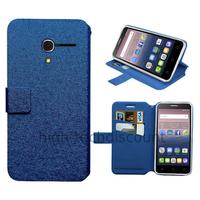 Housse etui coque pochette portefeuille pour Alcatel One Touch Pop 3 (5.0) + film ecran - BLEU