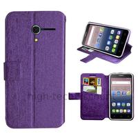 Housse etui coque pochette portefeuille pour Alcatel One Touch Pop 3 (5.0) + film ecran - MAUVE