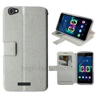 Housse etui coque pochette portefeuille pour Wiko Fever 4G + film ecran - BLANC