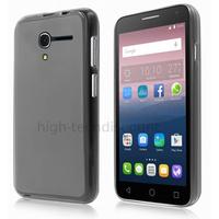Housse etui coque pochette silicone gel fine pour Alcatel One Touch Pop 3 (5.0) + film ecran - BLANC TRANSPARENT