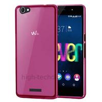 Housse etui coque pochette silicone gel fine pour Wiko Fever 4G + film ecran - ROSE