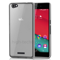 Housse etui coque pochette silicone gel fine pour Wiko Pulp 4G + film ecran - BLANC TRANSPARENT