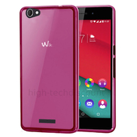 Housse etui coque pochette silicone gel fine pour Wiko Pulp 4G + film ecran - ROSE