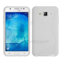 Housse etui coque pochette silicone gel fine pour Samsung Galaxy J7 + film ecran - BLANC