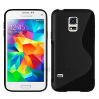 Housse etui coque pochette silicone gel fine pour Samsung i9600 Galaxy S5 New + film ecran - NOIR
