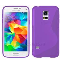 Housse etui coque pochette silicone gel fine pour Samsung i9600 Galaxy S5 New + film ecran - MAUVE