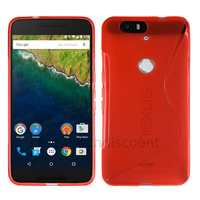 Housse etui coque pochette silicone gel fine pour Huawei Google Nexus 6P + film ecran - ROUGE