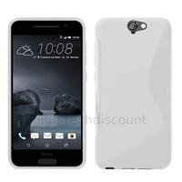 Housse etui coque pochette silicone gel fine pour HTC One A9 + film ecran - BLANC