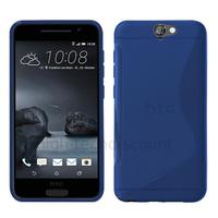 Housse etui coque pochette silicone gel fine pour HTC One A9 + film ecran - BLEU