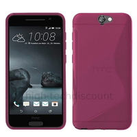 Housse etui coque pochette silicone gel fine pour HTC One A9 + film ecran - ROSE