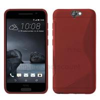 Housse etui coque pochette silicone gel fine pour HTC One A9 + film ecran - ROUGE
