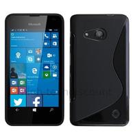 Housse etui coque pochette silicone gel fine pour Microsoft Lumia 550 + film ecran - NOIR