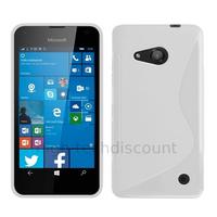 Housse etui coque pochette silicone gel fine pour Microsoft Lumia 550 + film ecran - BLANC
