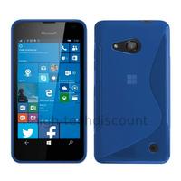 Housse etui coque pochette silicone gel fine pour Microsoft Lumia 550 + film ecran - BLEU