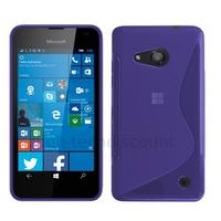 Housse etui coque pochette silicone gel fine pour Microsoft Lumia 550 + film ecran - MAUVE