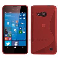 Housse etui coque pochette silicone gel fine pour Microsoft Lumia 550 + film ecran - ROUGE