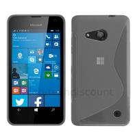 Housse etui coque pochette silicone gel fine pour Microsoft Lumia 550 + film ecran - TRANSPARENT