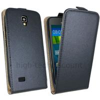 Housse etui coque pochette PU cuir fine pour Huawei Ascend Y5 - Y560 + film ecran - NOIR