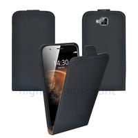Housse etui coque pochette PU cuir fine pour Huawei Ascend G8 + film ecran - NOIR