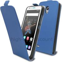 Housse etui coque pochette PU cuir fine pour Alcatel One Touch Go Play + film ecran - BLEU