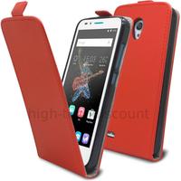 Housse etui coque pochette PU cuir fine pour Alcatel One Touch Go Play + film ecran - ROUGE