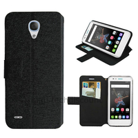 Housse etui coque pochette portefeuille pour Alcatel One Touch Go Play + film ecran - NOIR