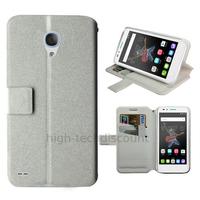Housse etui coque pochette portefeuille pour Alcatel One Touch Go Play + film ecran - BLANC