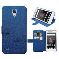 Housse etui coque pochette portefeuille pour Alcatel One Touch Go Play + film ecran - BLEU