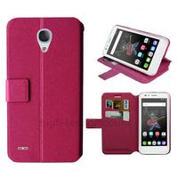 Housse etui coque pochette portefeuille pour Alcatel One Touch Go Play + film ecran - ROSE