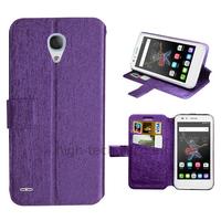 Housse etui coque pochette portefeuille pour Alcatel One Touch Go Play + film ecran - MAUVE