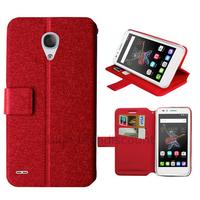 Housse etui coque pochette portefeuille pour Alcatel One Touch Go Play + film ecran - ROUGE