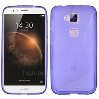 Housse etui coque pochette silicone gel fine pour Huawei Ascend G8 + film ecran - MAUVE