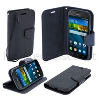 Housse etui coque pochette portefeuille pour Huawei Ascend Y5 - Y560 + film ecran - NOIR