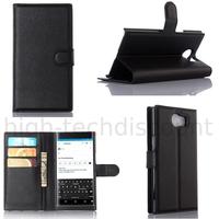 Housse etui coque pochette portefeuille pour Blackberry Priv + film ecran - NOIR