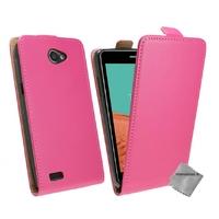 Housse etui coque pochette PU cuir fine pour LG L Bello II 2 + film ecran - ROSE