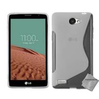 Housse etui coque pochette silicone gel fine pour LG L Bello II 2 + film ecran - BLANC TRANSPARENT