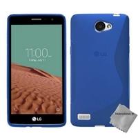 Housse etui coque pochette silicone gel fine pour LG L Bello II 2 + film ecran - BLEU