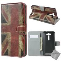 Housse etui coque portefeuille PU cuir pour Asus Zenfone 2 Laser ZE500KL + film ecran - UK